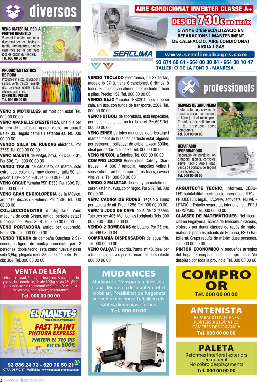 Exemple de pàgina de la revista El Divendres