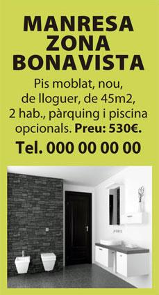 Exemple d'anunci de la mida 3 Mòduls